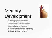 March 31 Memory Development