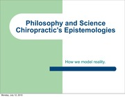 CPAP 1505 The Epistemologies of Philosophy and Science