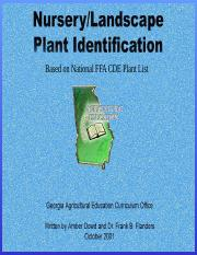 Nursery_Landscape Plant ID_3- from National FFA Plant list