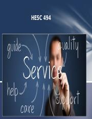HESC 494 Powerpoint introduction