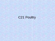 2 A Poultry