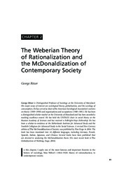Ritzer_The Weberian Theory of Rationalization and the McDonaldization of Contemporary Society