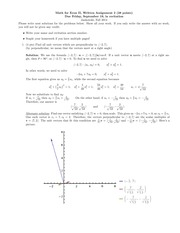 Math for Econ II Homeowkr 2 Solutions