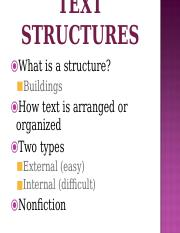 Copy of Internal Text Structures