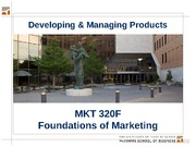 MKTG 11 - Developing and Managing Products - Key Slides - 320F