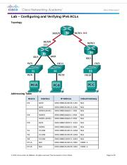 9.5.2.7 Lab - Configuring and Verifying IPv6 ACLs