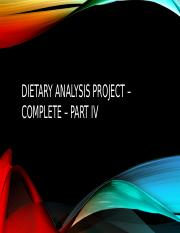Dietary analysis project – complete – part IV.pptx
