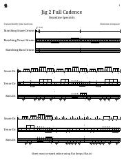 Jig 2 Full Cadence - Marching Snare Drums - Marching Tenor Drums - Marching Bass Drums.pdf