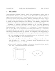 Lecture notes on Manifolds