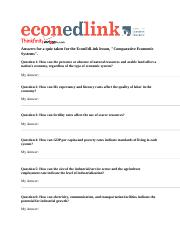 EconEdLink Comparative Economic System Assignment.doc