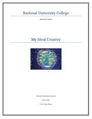 my  ideal  country 5.1 Discussion Forum
