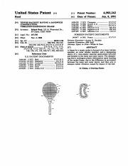 US4983242 Tennis racket having a sandwich construction, vibration-dampening frame.pdf