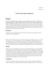 Lab7 Conservation of Momentum
