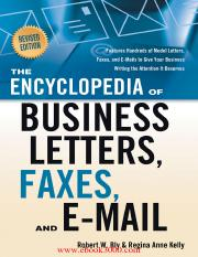 The Encyclopedia of Business Letters, Faxes, and Emails Features Hundreds of Model Letters, Faxes, a