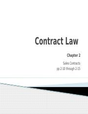 Contract Law 3(2)