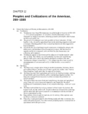 11 - Peoples and Civilizations of Americas, 600 - 1500