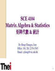 SCE 4104 Matrix Algebra  statistics Topic 5 (1).pdf