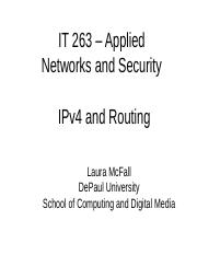 IT 263 - IPv4 and Routing.ppt