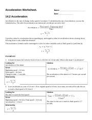 W123-acceleration_worksheet - Acceleration Worksheet Name Date ...
