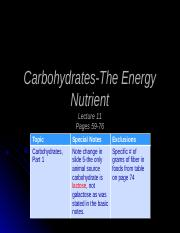 Lecture11-Carbohydrates-Part1-TeachingNotes