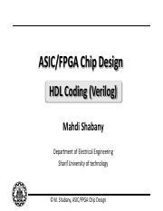 Lecture_02_HDL pdf - ASIC/FPGA Chip Design HDL Coding