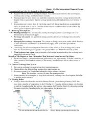 Chapter 15 - The International Financial System