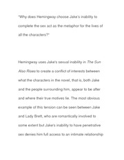 Essay on plot Effects of Jake's Sexuality
