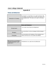 appendix b roles and behaviors Check out our top free essays on appendix b roles and behaviors to help you write your own essay.