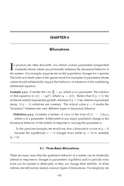Ordinary & Partial Differential Equations - Reynolds (2000) - Chapter 5 - Bifurcations