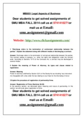 250365314-Mb0051-Legal-Aspects-of-Business-3rd-Sem-Mba-Fall2014-Smu-Solved-Assignment