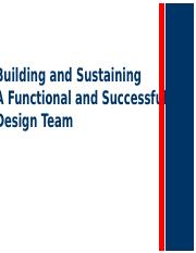 Building and Sustaing a functional and successful design team - Chapter 3.pptx