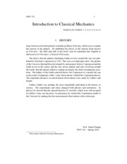 Intro to Classical Mechanics Notes