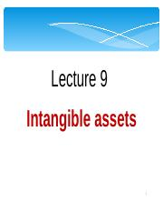 Lect 9 Intangibles