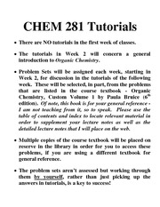 CHEM 281-2011-3 TUTORIALS NOTICE