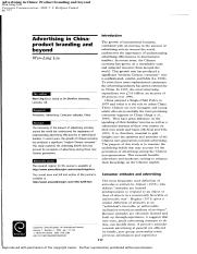 Article 8_Advertising in China_Product branding and beyond