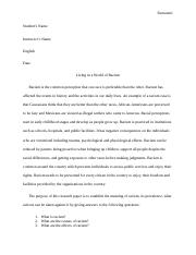 ESSAY-LIVING IN A WORLD OF RACISM.docx
