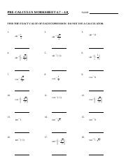 Worksheet 4.7 to 4.8