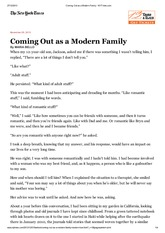 Coming Out as a Modern Family