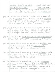 Exam 2 Solution Fall 2007 on Introduction to Advanced Math
