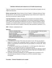 Lab 5 - Calibration Methods and Introduction to UVVIS (1).docx