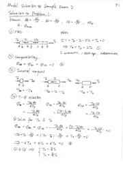 solution to Sample Exam 2
