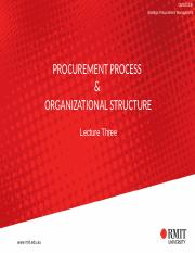 Lecture Three - Procurement Process and  Organizational Structure(1).pptx