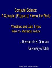 cs1000_S16_Lecture_3_variables