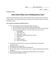 Unit 2 _Hydration_ Hydration Lesson & Analysis, Lifetime Fitness A.docx