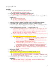 Study Guide Exam 3 NatDis