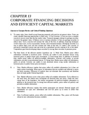 Ch 13 Corp Financing Decisions and Efficient Capital Markets_1
