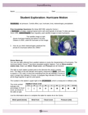 HurricaneMotionSE - Name Date Student Exploration ...