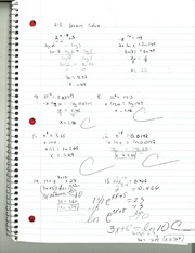 MAT 145 Lecture Solve Notes