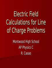 Electric Field Line of Charge Problems.ppt