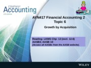 L06 Growth by Acquisition -  Lecture Slides